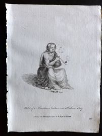 Jefferys 1772 Costume Print. Habit of a Mountain Indian near Hudson Bay. Canada